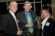 Alex Sargent (his father is Ron Sargent, head of Staples and an honoree) with Kirk Saville of Staples and Meta Greenberg of MG Speech & Communicaiton at the Boston Business Journal's Power 50 event at the Boston Harbor Hotel.