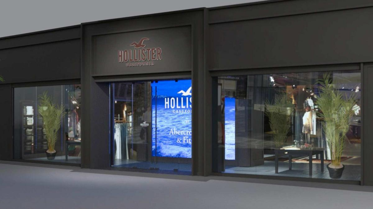 Abercrombie 39 s new look hollister open at polaris fashion Hollister design