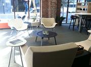 Office furniture on display at Workscapes' showroom in Downtown Jacksonville.