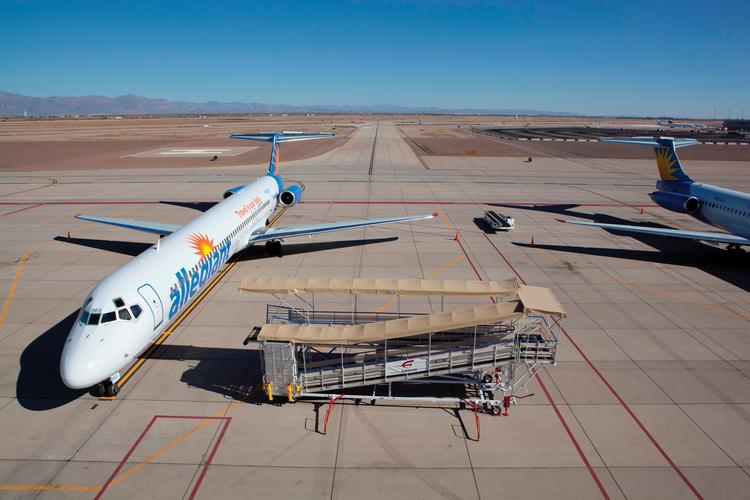Allegiant Air will start service between Mesa and Stockton, Calif.