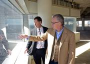 Doug Chesnut of Street Lights Residential and One Dallas Center developer Shawn Todd talk about the unique views from the 30-story tower and the park that will absorb a parking lot directly to the south of the tower.