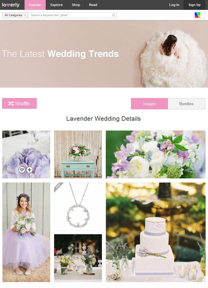 Lover.ly is a site that helps couples plan and shop for their weddings.