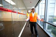 More from the tour Hackett Tower will accommodate about 1,500 existing employees. Anadarko has experienced significant growth in the past two years, adding almost 600 new employees to its headquarters in the Woodlands.