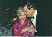 Cynthia Woods Mitchell, who passed away in 2009, with Roger Galatas, former CEO of The Woodlands Development Co., in an undated photo.