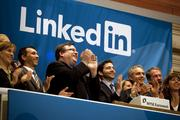 LinkedIn First day pop: 109.4%%  The biggest first day IPO pop in Silicon Valley since the dot-com bubble burst has been LinkedIn's. The Mountain View professional networking company raised $352.8 million on May 19, 2011, and its stock more than doubled on its NYSE debut. Shown celebrating that day here are chairman and co-founder Reid Hoffman, third from left, and CEO Jeffrey Weiner, center. The IPO price of the stock was $45 and it most recently closed at $211.47.