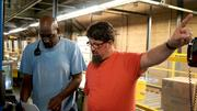 Bloom talks with a merge operator in the distribution center.