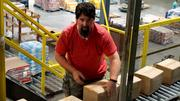 Bloom works in one of his company's distribution centers on the Undercover Boss episode.