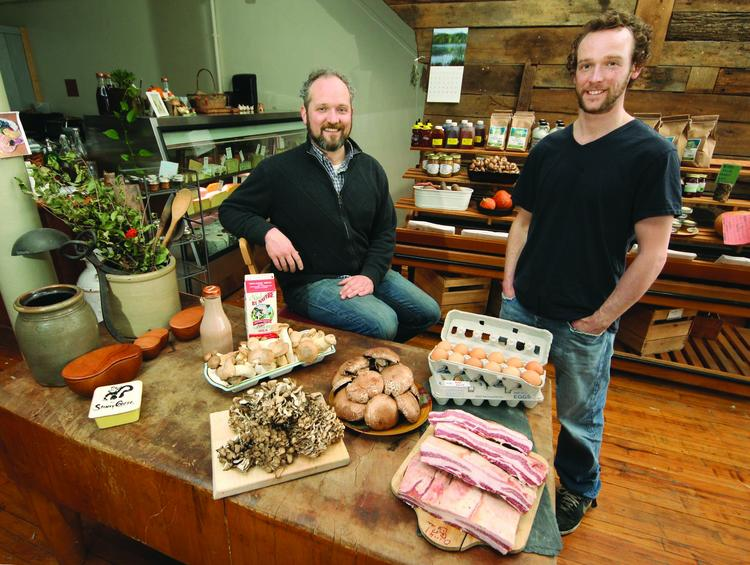 Cavan Patterson, left, and Tom Patterson are co-owners of Wild Purveyors, which has seen a spike in food prices from suppliers.
