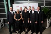The Projects Unlimited team on the red carpet at the Dayton Business Journal's Business of the Year event.