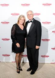WSU president David Hopkins and his wife Angelia on the red carpet at the Dayton Business Journal's Business of the Year event.