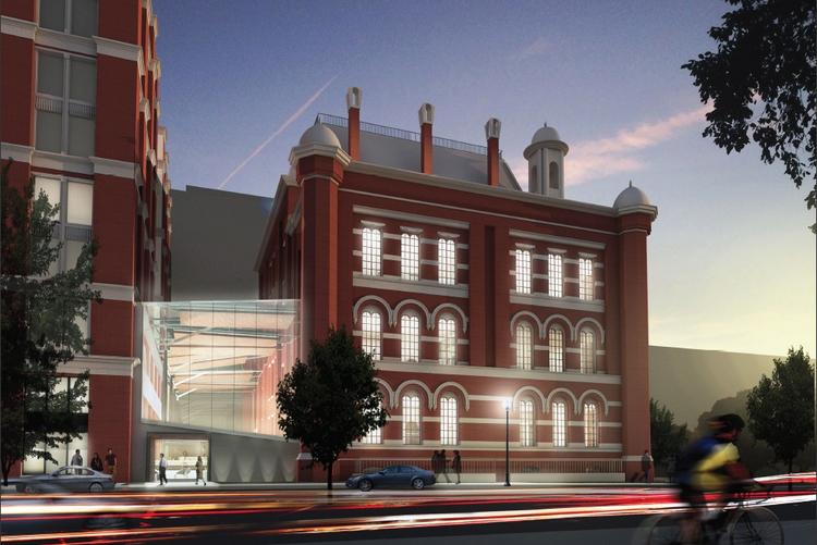 A view of the exterior of the Franklin School, as reimagined by CoStar.