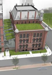 Another view of the historic Franklin School, as proposed to be redeveloped by CoStar.