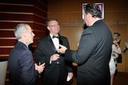 Montgomery County Commissioner Dan Foley, Tom Koogler, Greene County commissioner, and Steven Johnson of Sinclair Community College at the 2013 Business of the Year awards.