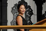 Joanne Li of the Raj Soin College of Business at Wright State University at the 2013 Business of the Year awards.