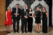 The Minority-owned business finalists - Joe Basalla with Corbus LLC, The Sawdeys and Jan Parker of Rush Expediting.