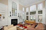 11223 Hunters Pond Road: The two-story great room gets good light.