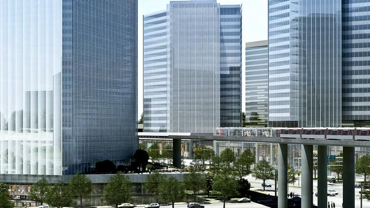 Scotts Run Station South, as designed, is considered a model of redevelopment for a more urban, pedestrian-friendly Tysons Corner. The developer, Cityline Partners, will contribute to a Transportation Management Association that the Tysons Partnership will run.