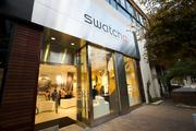 The front door view of Austin's new Swatch store at 408 W Second Street.