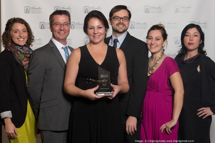The team from Mod and Company, which won the award for emerging business at the St. Paul Area Chamber of Commerce Deubeber Awards.