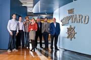 The Shipyard's leadership team includes, from left: Ilya Bodner, Chief Revenue Officer; Jason Walker, Chief Client Services Officer; Anthony Trimpe, Chief Creative Officer; Jenifer Ridenour, Chief Operating Officer, Dan Easley, President- Fugent, Benjamin Clarke, President; Rick Milenthal, Chairman.
