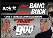 Remember that Secret Service scandal in Cartagena? Fortunately, for Spirit, it offers service there.
