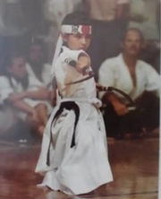 Kim Rothstein as a child in a karate class, from photos submitted with her pre-sentencing memo