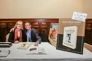 """Milwaukee chef Sanford D'Amato and his wife and business partner, Angie, signed their new book """"Good Stock"""" for attendees."""