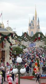 If you can't beat 'em, join 'em: Christmas comes early at Disney