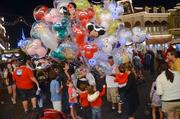 Balloon vendors always draw a crowd.