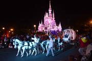 This is just a photograph, but I bet you can hear the squeals of all the little princesses when Cinderella's pony-drawn carriage showed up. My ears are still ringing.