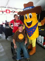 The author, with the ever-present Twinkie The Kid at Fun Fun Fun Fest