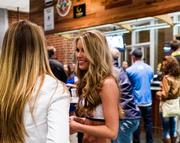 Charlotte Bobcats Lady Cats cheerleaders mingled with the crowd at the new Craft Beer Garden.
