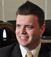 Mark Davies, is vice president and manager of Key's Rensselaer County Plaza office in East Greenbush.  He is 36 and has been employed with the bank for 6 years.
