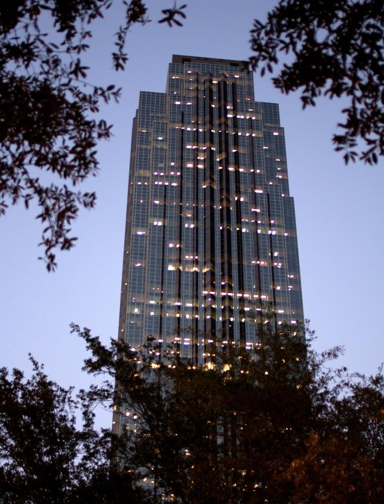 Invesco bought the Williams Tower from Hines earlier this month for $412 million.