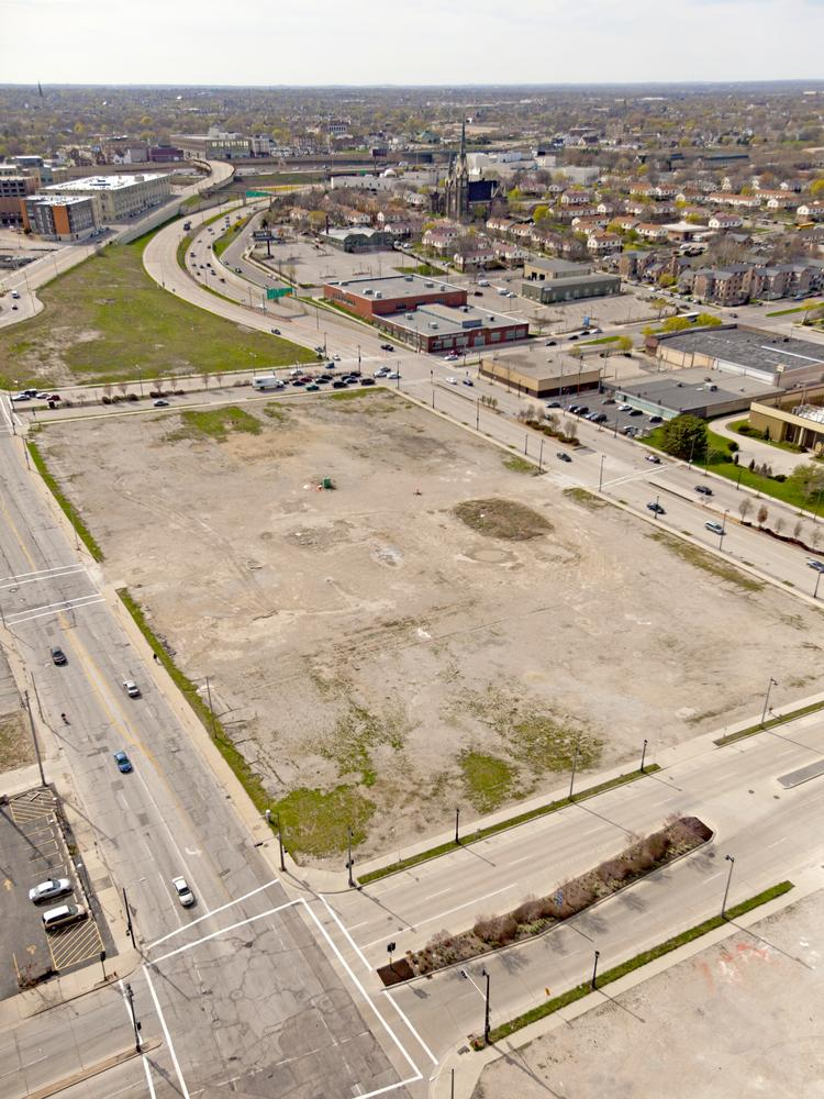 Milwaukee County owns most of the undeveloped land in the Park East where a freeway spur formerly stood.