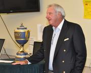 Butch Buchholz with the Gene Sarazen Cup for the Cadillac Championship.