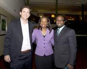 Urban Land Institute Young Leaders chairman Dean O'Brien, Intel global finance communications specialist Kamieka Hairston and management and technology consultant David Inniss pose at the American Leadership Forum awards dinner.