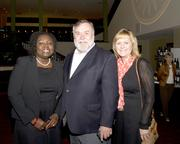 VSP project manager Yaa Aggrey-Fynn, Placer Community Foundation board member Ken Larson and Placer Community Foundation CEO Veronica Blake pose at the American Leadership Forum awards dinner.