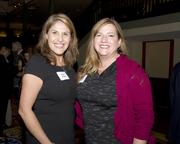 Junior League of Sacramento president Laurie Powers and Keller Williams Realty realtor Renee Friedrich pose at the American Leadership Forum awards dinner.