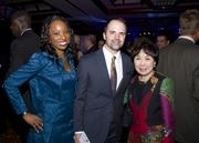 SMUD director of community relations Erica Manuel, Chris Worden of Worden Strategy Group and Congresswomen Doris Matsui pose at the American Leadership Forum awards dinner.