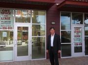 John Protopappas, head of Madison Park Financial stands in front of a cafe space in Bakery Lofts 3.