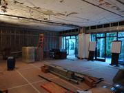 The 1,500-square-foot Hawkins Brown Room — which is already used for events including weddings and board meetings — is being completely redone. Quaintance-Weaver construction workers are raising the ceiling by 17 inches, adding a new lighting system and and eight crystal basket chandeliers.