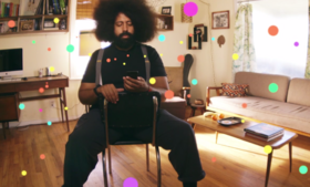 Reggie Watts demonstrates how to use Keezy to write a song.
