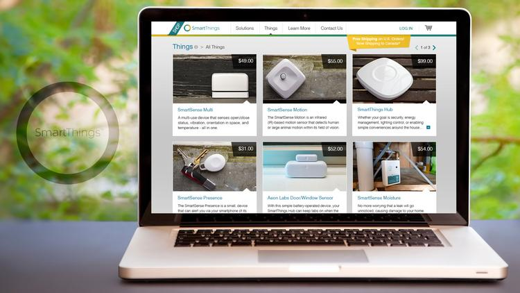 SmartThings launched its online store in August.