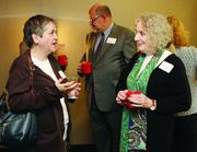 Ginny Frizzi, left, of the Institute for Entrepreneurial Excellence and Sharon Blake of the University of Pittsburgh.