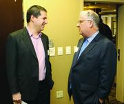 Robert Stein, left, of the Institute for Entrepreneurial Excellence and Andy Birol of Birol Growth Consulting.