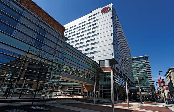 The 757-room Hilton Baltimore opened in 2008.