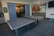 A ping pong table allows employees to blow off steam and unwind.