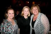 Loretta Brennan Glucksman, chairman of the American Ireland Fund, from left, Sen. Kirsten Gillibrand, D-N.Y., and Fionnuala O'Kelly, wife of Irish Prime Minister Enda Kenny, attend American Ireland Fund's 21st annual gala at the National Building Museum in D.C. on March 18.