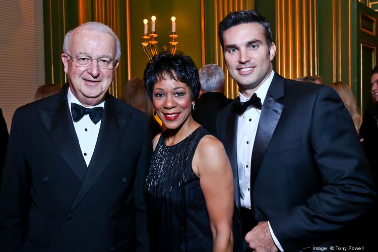 The LUNGevity Foundation brought together hundreds from the Washington community Oct. 26 for its Musical Celebration of Hope Gala at the Andrew W. Mellon Auditorium. From left, ABC 7's Gordon Peterson, gala emcee and WUSA9 anchor Andrea Roane and NBC4's Doug Kammerer.